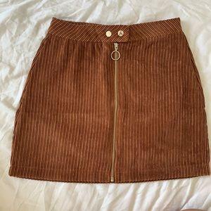 🆕 Fashion Nova: According To You Camel Mini Skirt